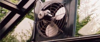 Установка вентиляторов в теплицах
