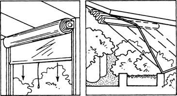 Монтаж теплоизолирующих устройств с внутренней стороны теплицы