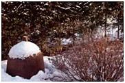 Укрытие в саду - соломенные маты
